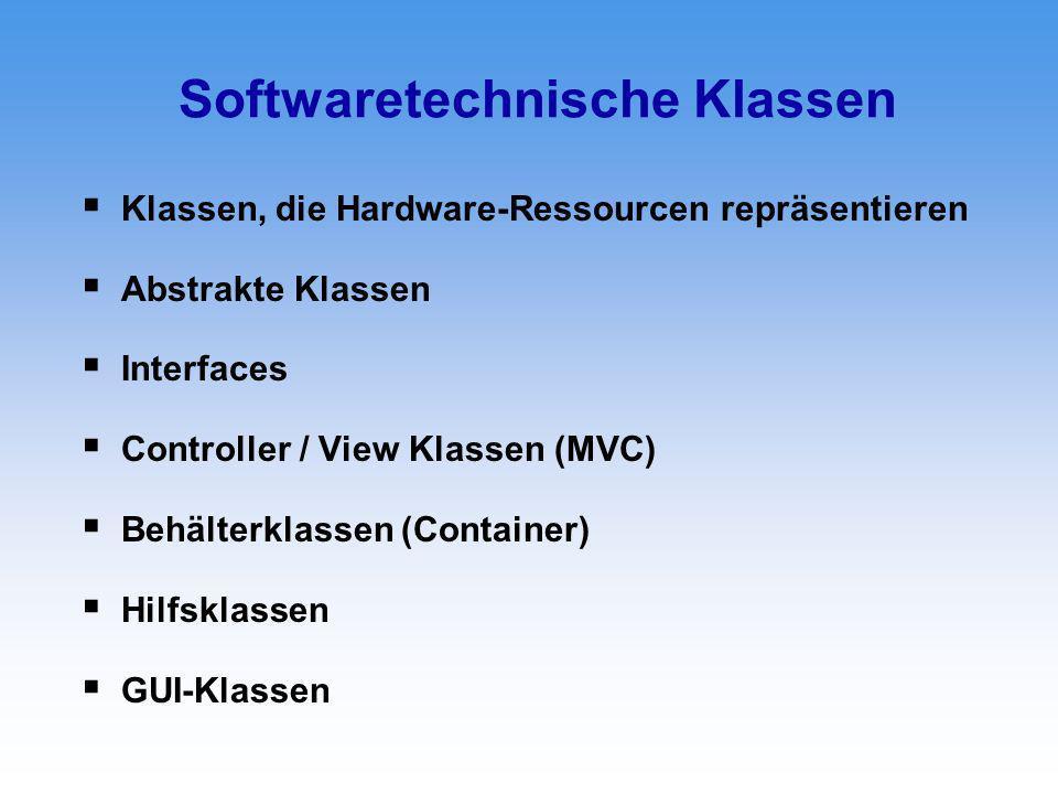 Softwaretechnische Klassen