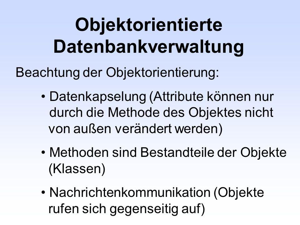 Objektorientierte Datenbankverwaltung