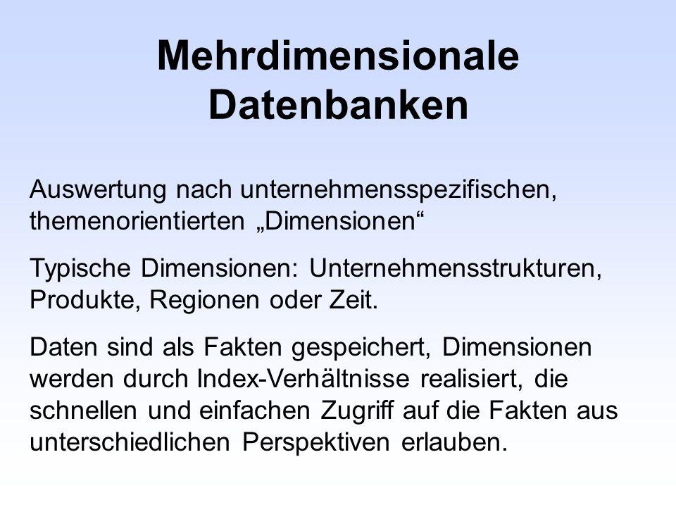 Mehrdimensionale Datenbanken