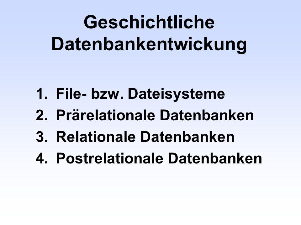 Geschichtliche Datenbankentwickung