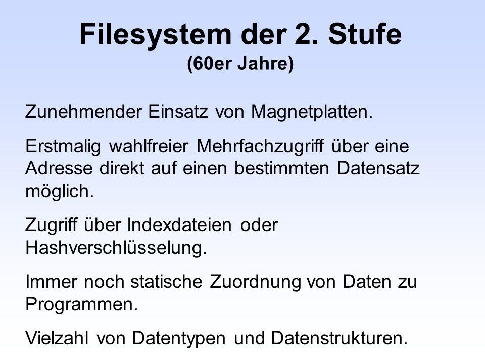 Filesystem der 2. Stufe (60er Jahre)