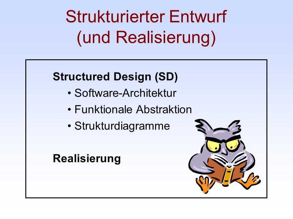 Strukturierter Entwurf (und Realisierung)