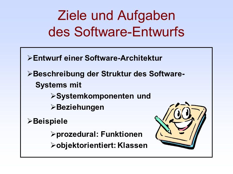 Ziele und Aufgaben des Software-Entwurfs