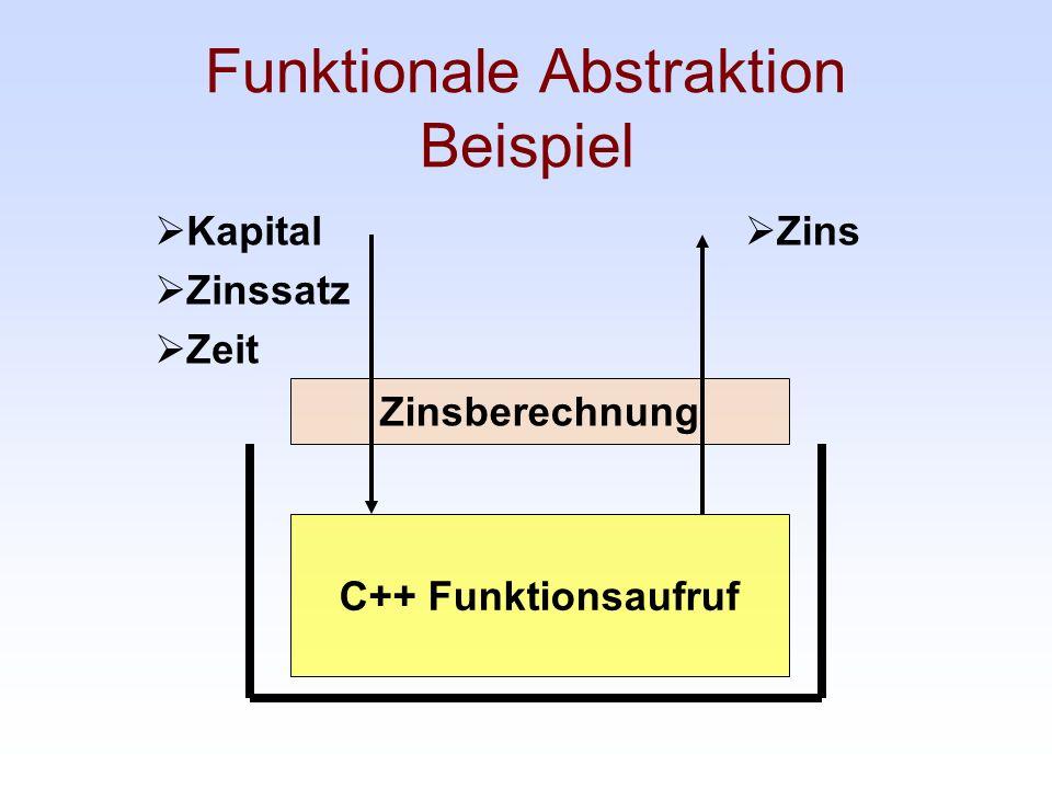Funktionale Abstraktion Beispiel