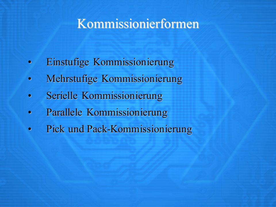 Kommissionierformen Einstufige Kommissionierung