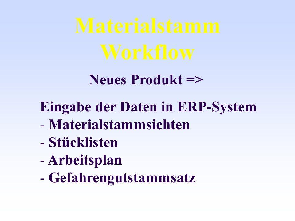 Materialstamm Workflow