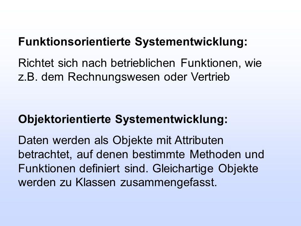 Funktionsorientierte Systementwicklung: