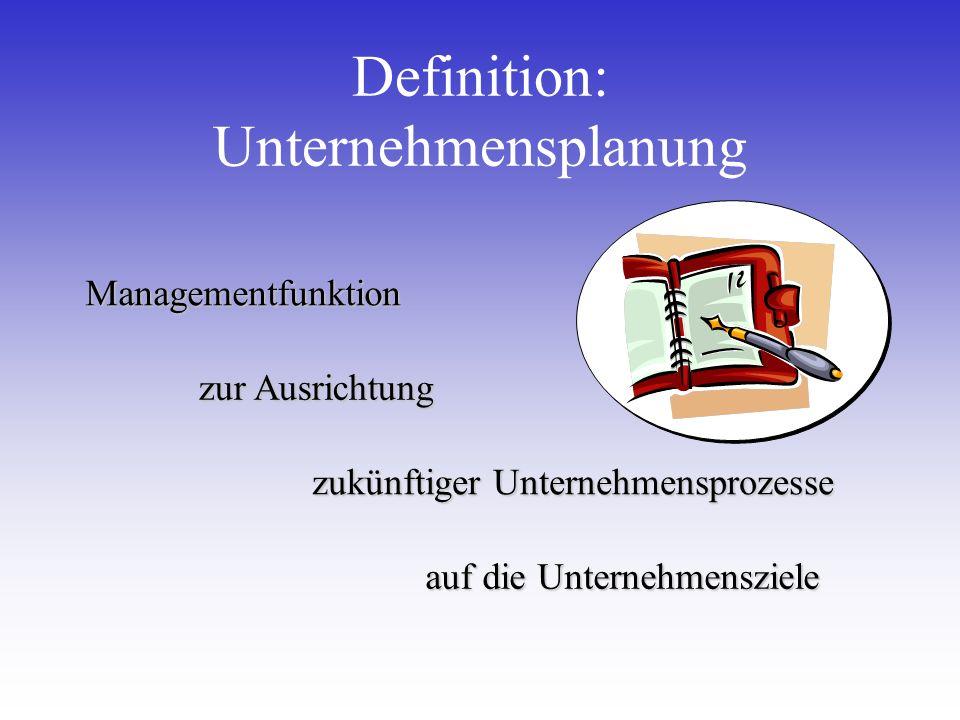 Definition: Unternehmensplanung