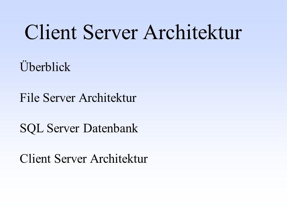Client Server Architektur