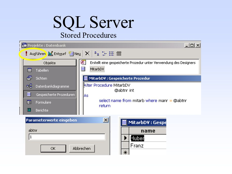 SQL Server Stored Procedures