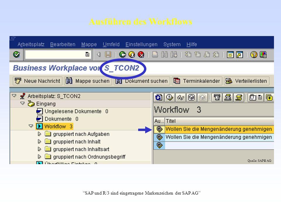 Ausführen des Workflows