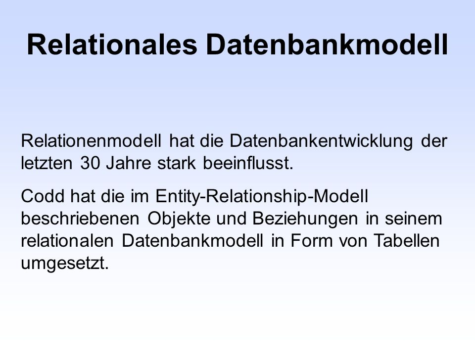 Relationales Datenbankmodell