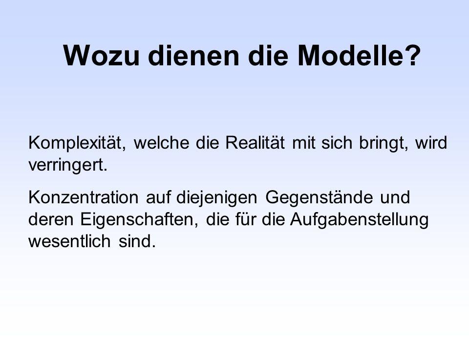 Wozu dienen die Modelle