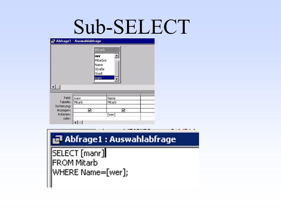 Sub-SELECT