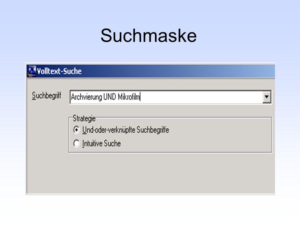 Suchmaske