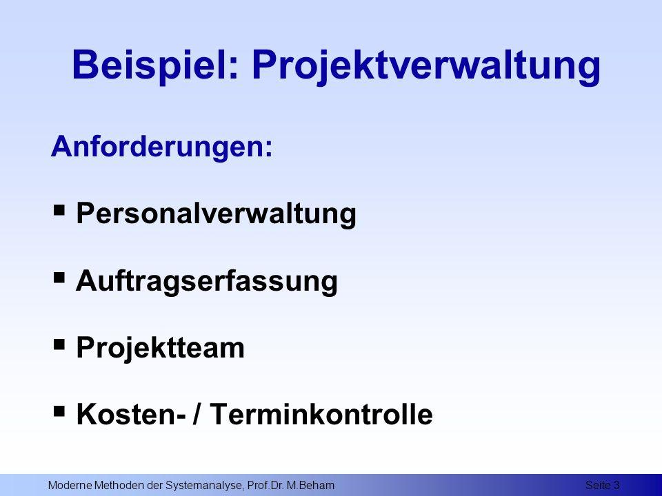 Beispiel: Projektverwaltung