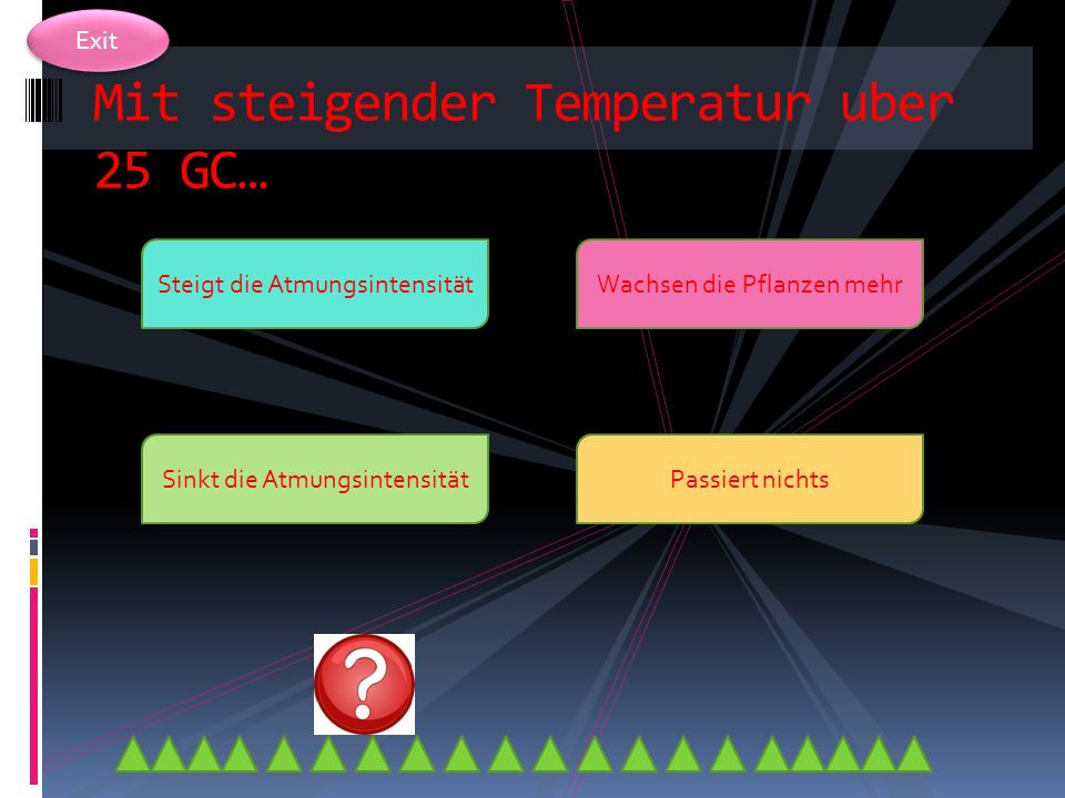 Mit steigender Temperatur uber 25 GC…