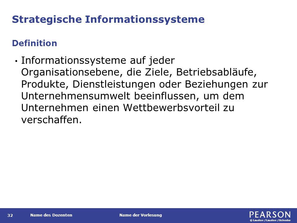 Informationssysteme für geschäftsbereichsbezogene Strategien