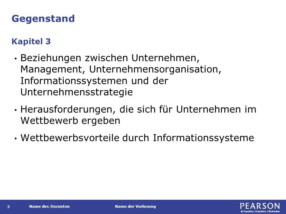 Unternehmensorganisation und Informationssysteme