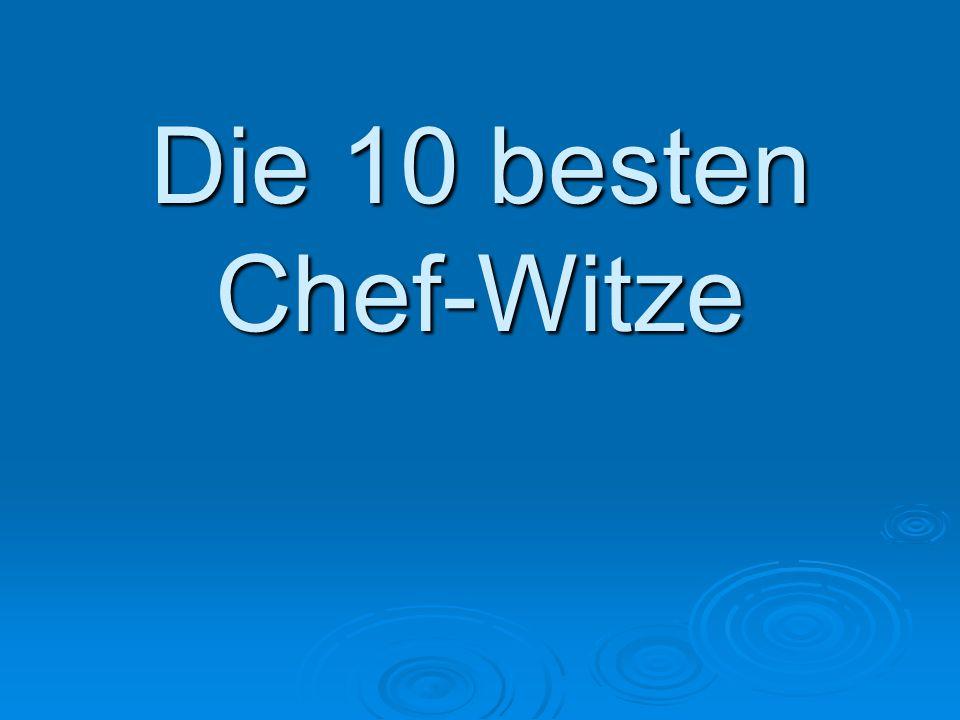 Die 10 besten Chef-Witze