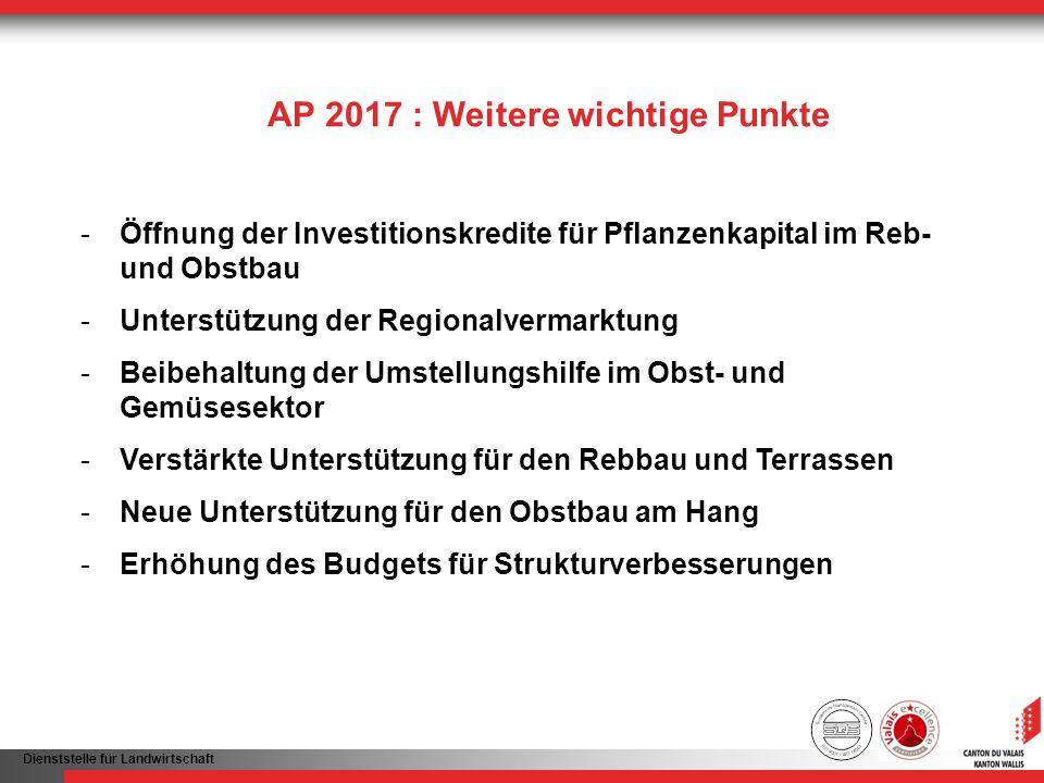 AP 2017 : Weitere wichtige Punkte