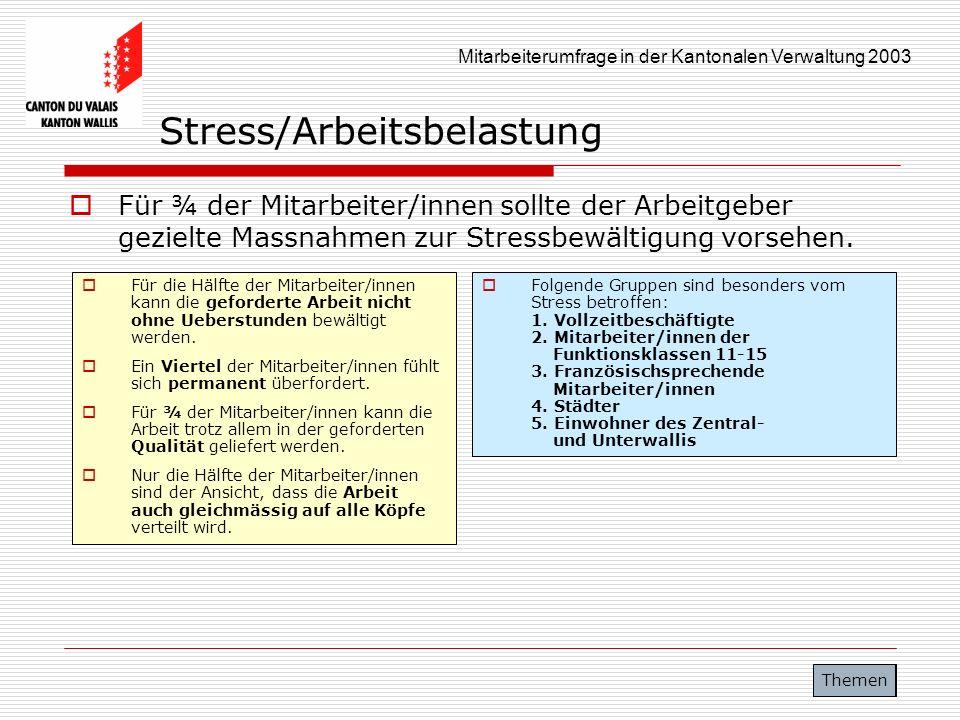 Stress/Arbeitsbelastung