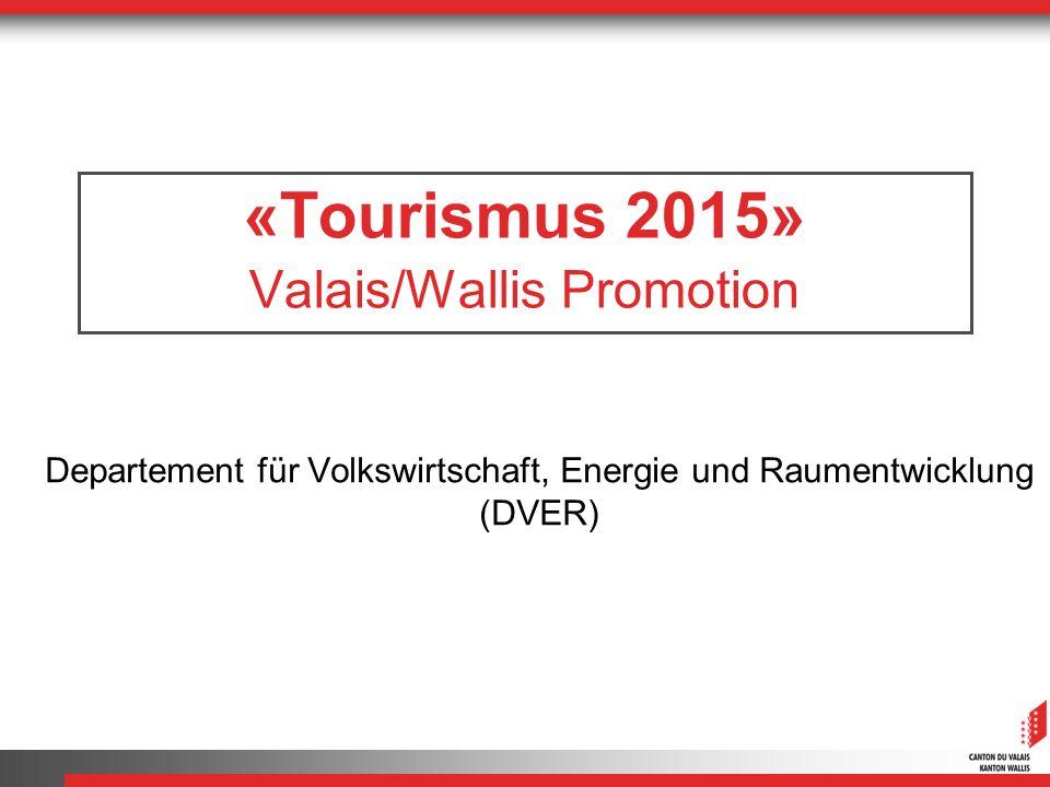 «Tourismus 2015» Valais/Wallis Promotion