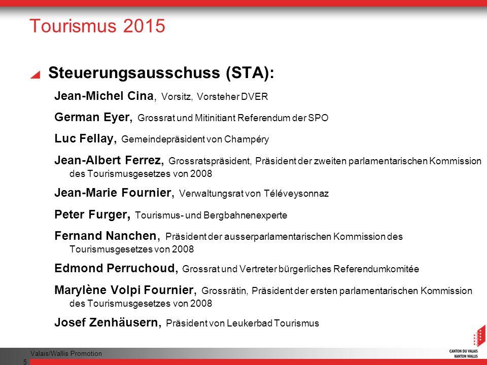 Tourismus 2015 Steuerungsausschuss (STA):