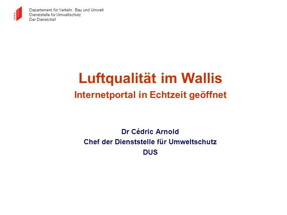 Luftqualität im Wallis