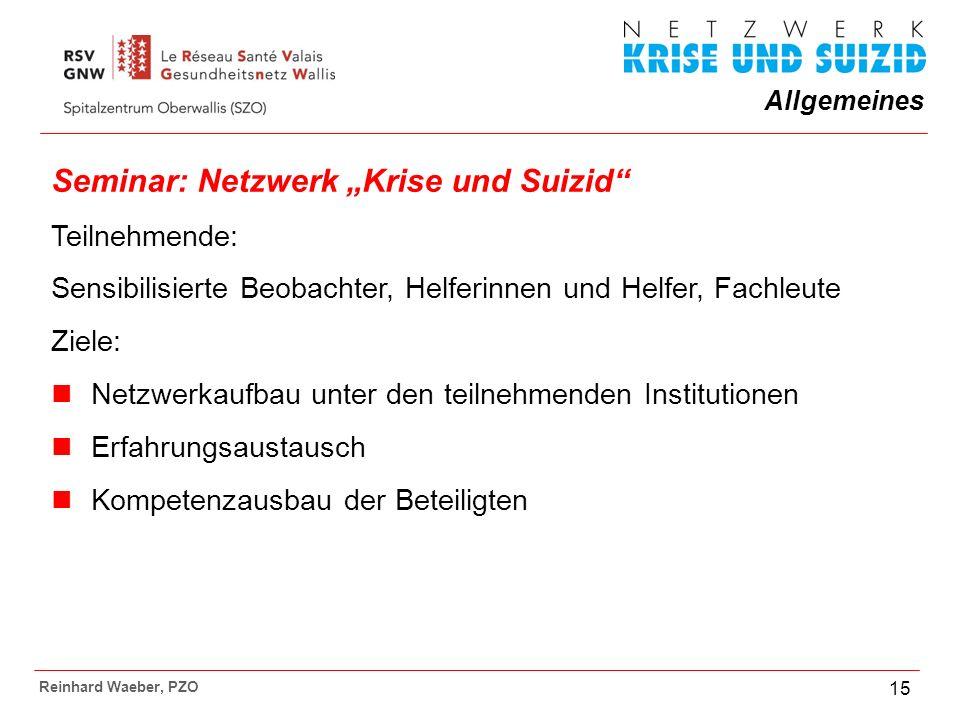 """Seminar: Netzwerk """"Krise und Suizid"""
