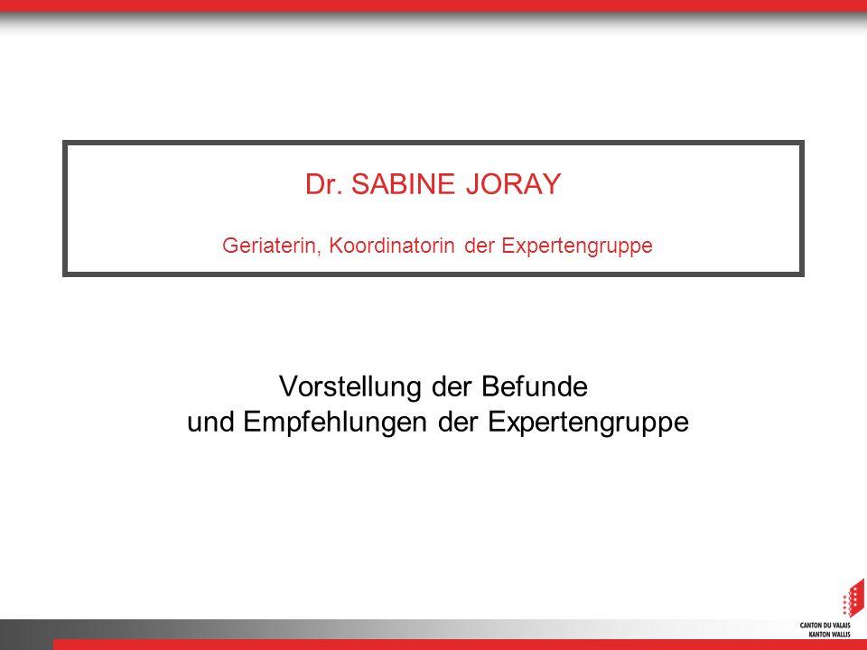 Dr. SABINE JORAY Geriaterin, Koordinatorin der Expertengruppe