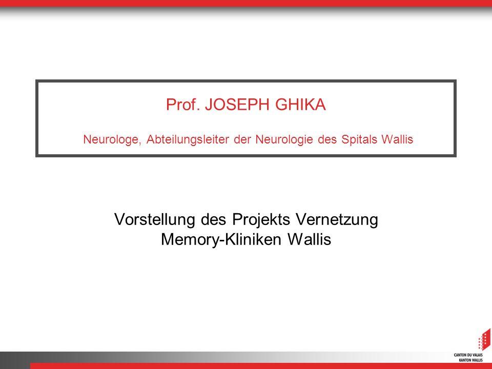 Vorstellung des Projekts Vernetzung Memory-Kliniken Wallis