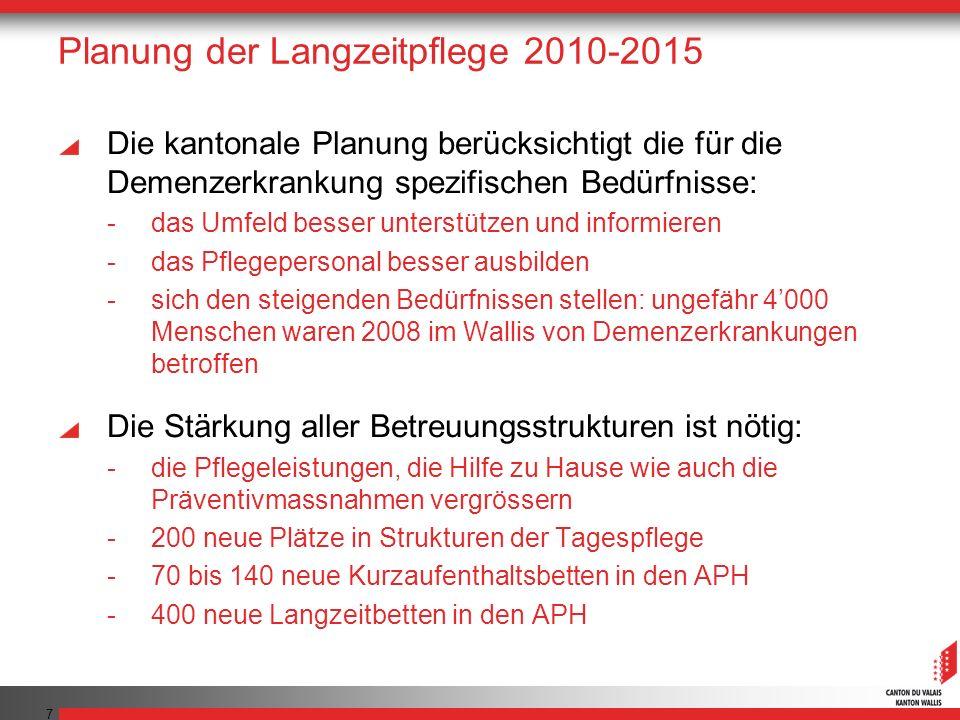 Planung der Langzeitpflege 2010-2015