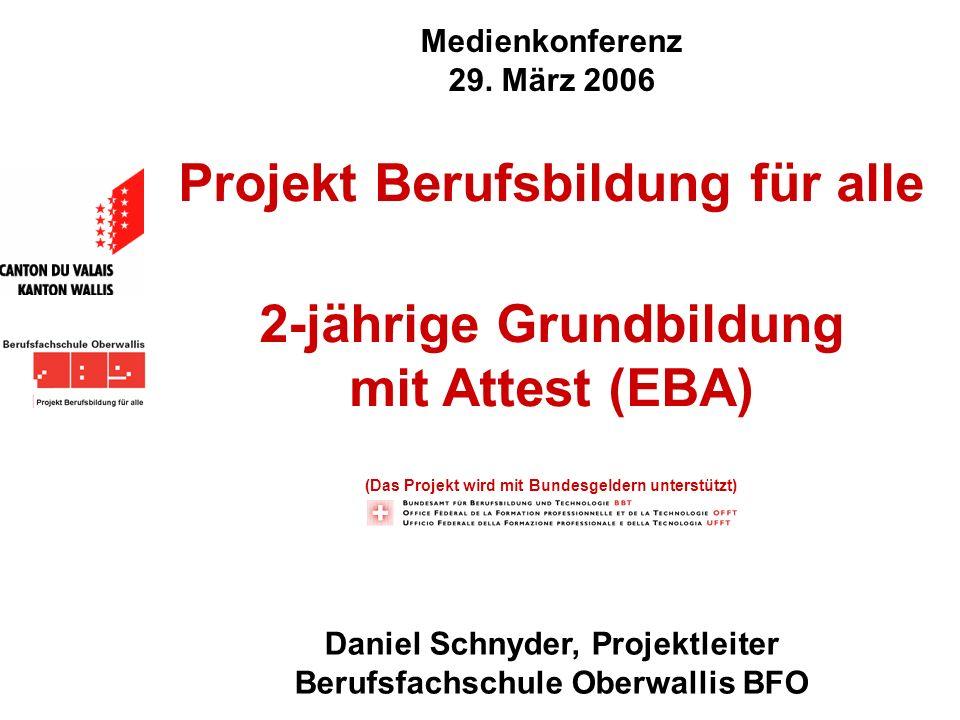 Projekt Berufsbildung für alle 2-jährige Grundbildung mit Attest (EBA)