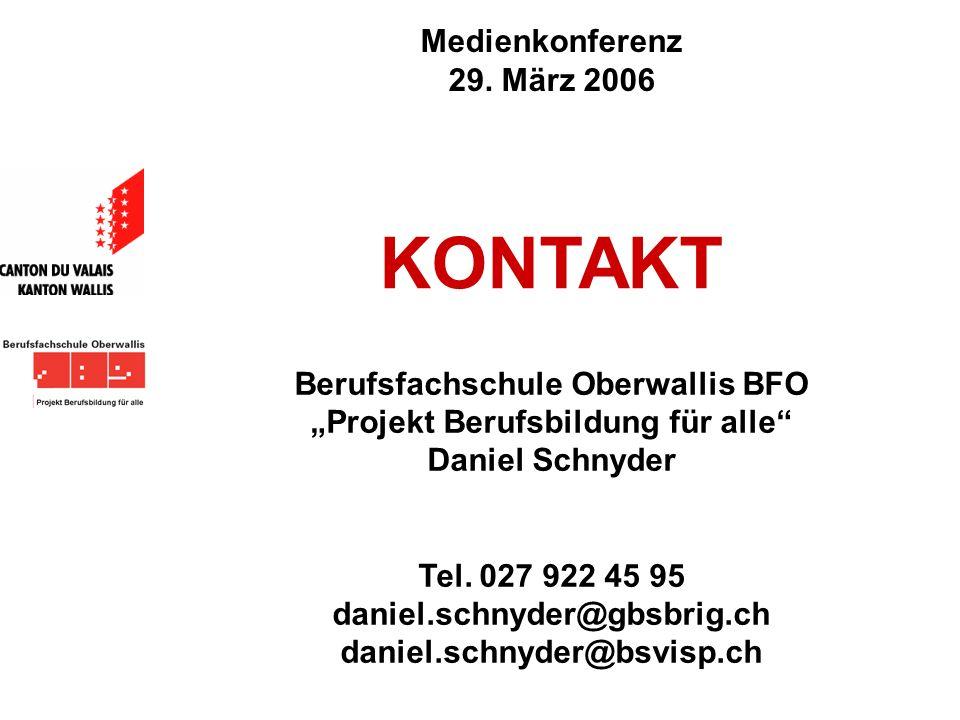 """Berufsfachschule Oberwallis BFO """"Projekt Berufsbildung für alle"""