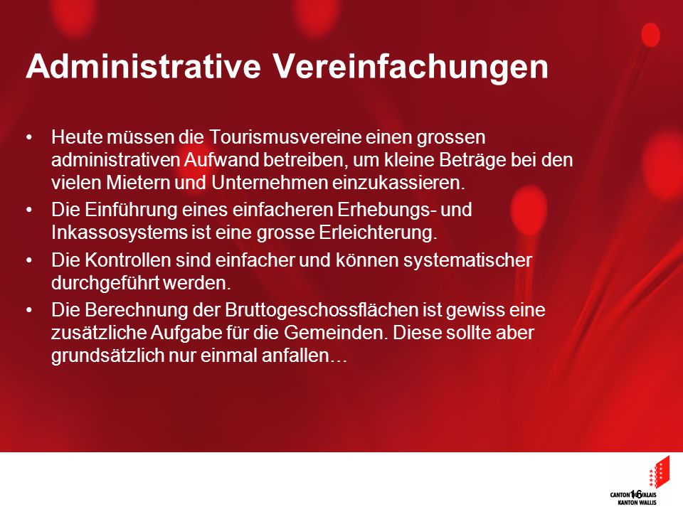 Administrative Vereinfachungen