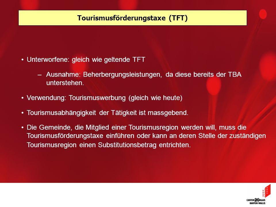 Tourismusförderungstaxe (TFT)