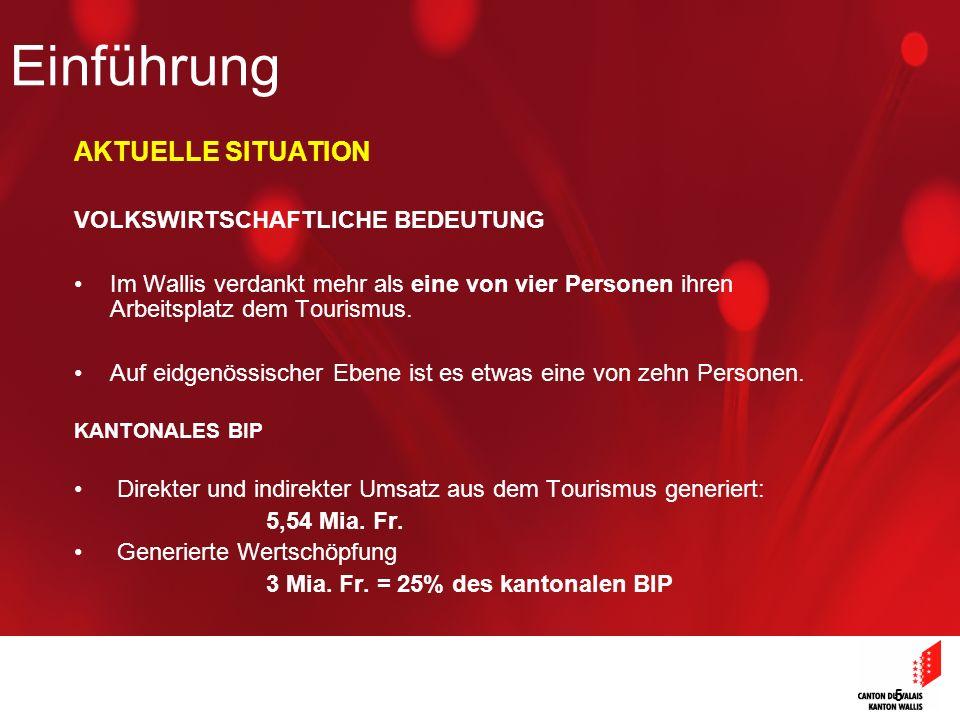 Einführung AKTUELLE SITUATION VOLKSWIRTSCHAFTLICHE BEDEUTUNG