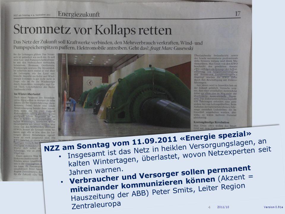 NZZ am Sonntag vom 11.09.2011 «Energie spezial»
