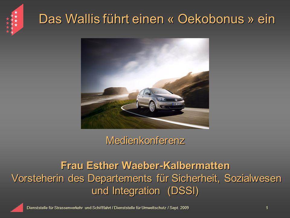 Das Wallis führt einen « Oekobonus » ein