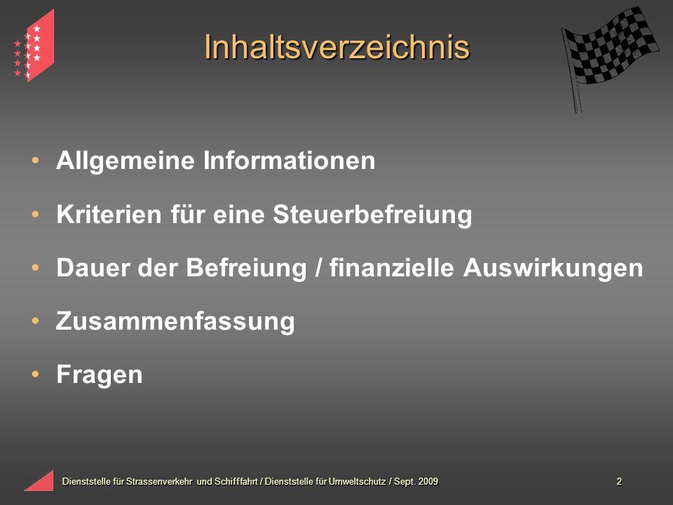 Inhaltsverzeichnis Allgemeine Informationen