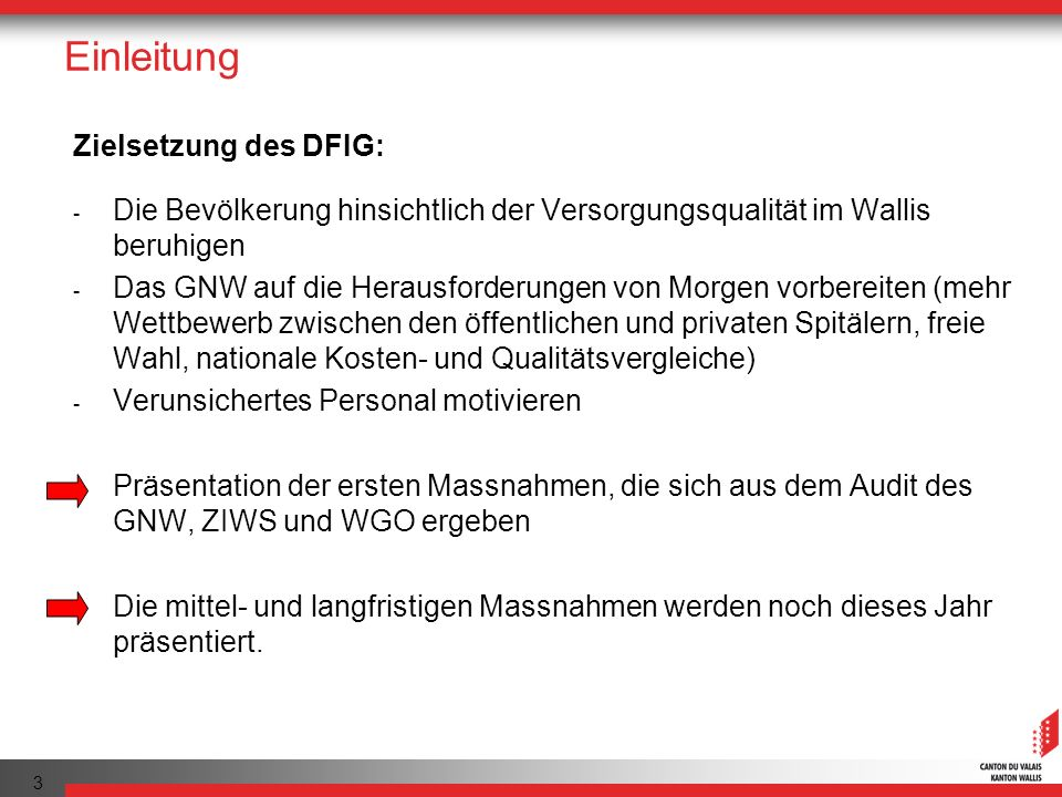 Einleitung Zielsetzung des DFIG: