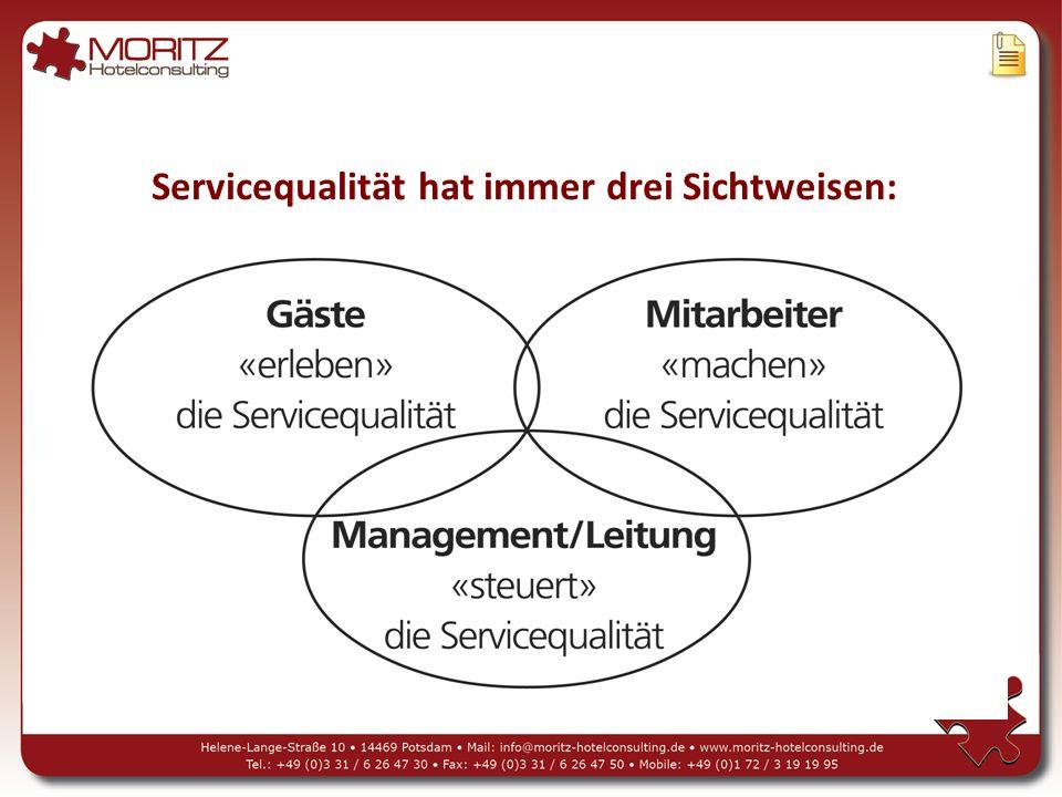 Servicequalität hat immer drei Sichtweisen: