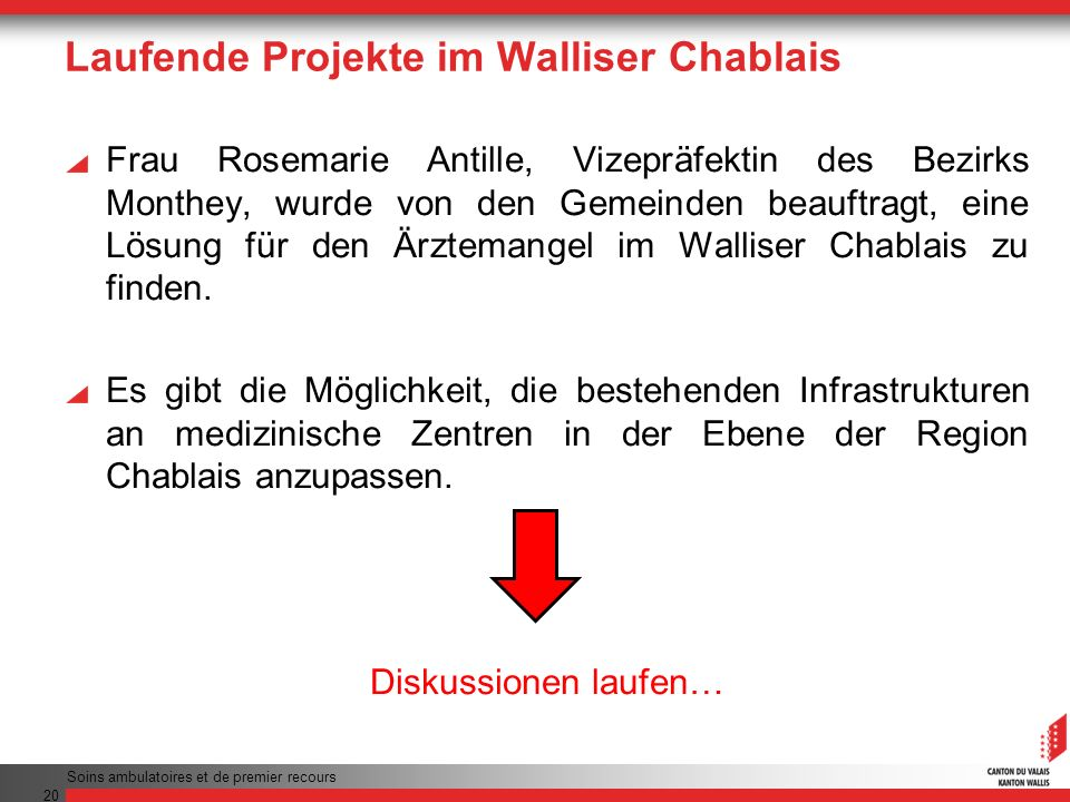 Laufende Projekte im Walliser Chablais