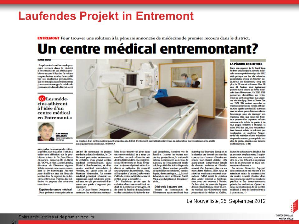 Laufendes Projekt in Entremont