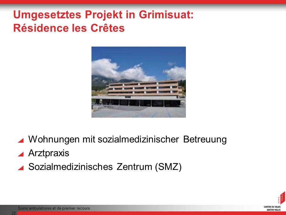 Umgesetztes Projekt in Grimisuat: Résidence les Crêtes