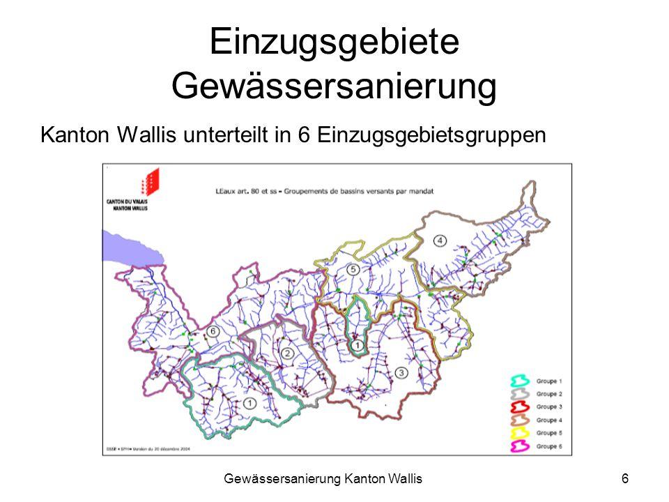Einzugsgebiete Gewässersanierung