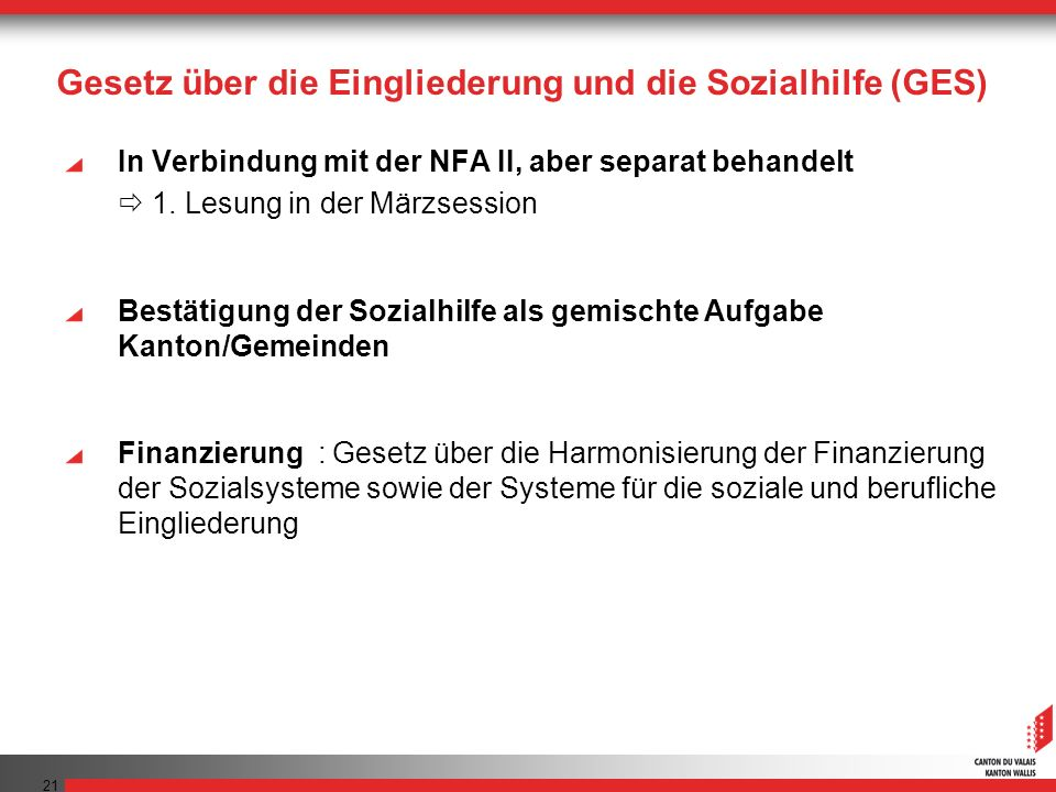 Gesetz über die Eingliederung und die Sozialhilfe (GES)