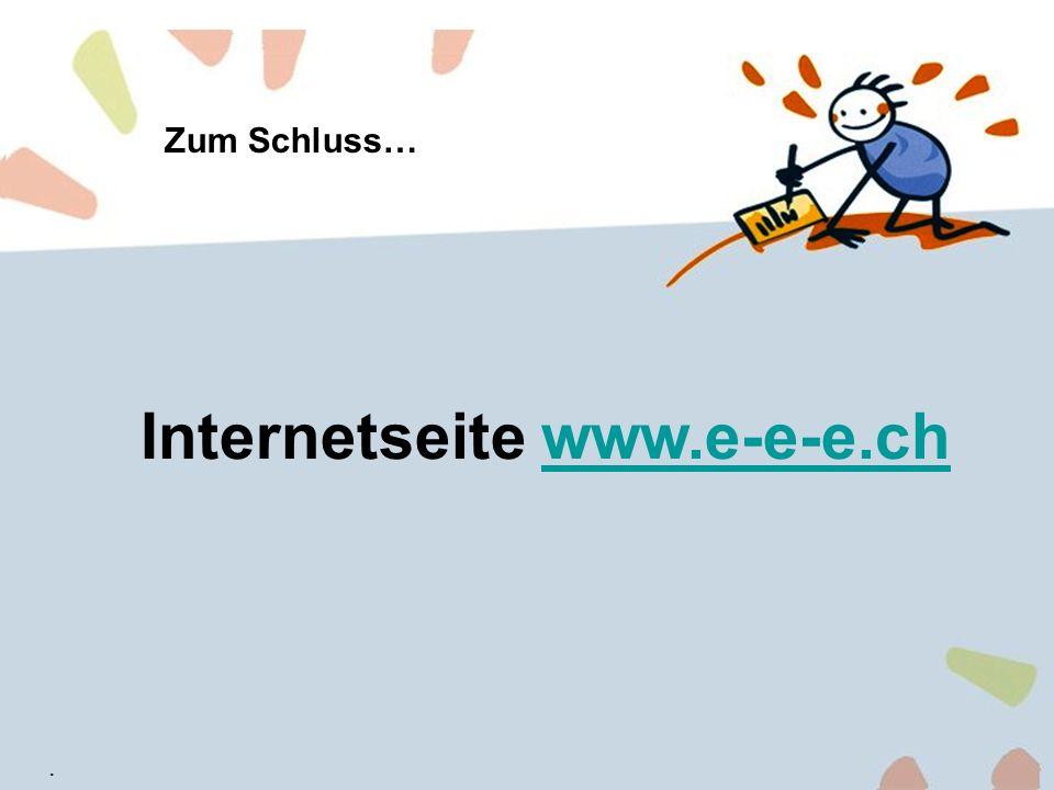 Internetseite www.e-e-e.ch