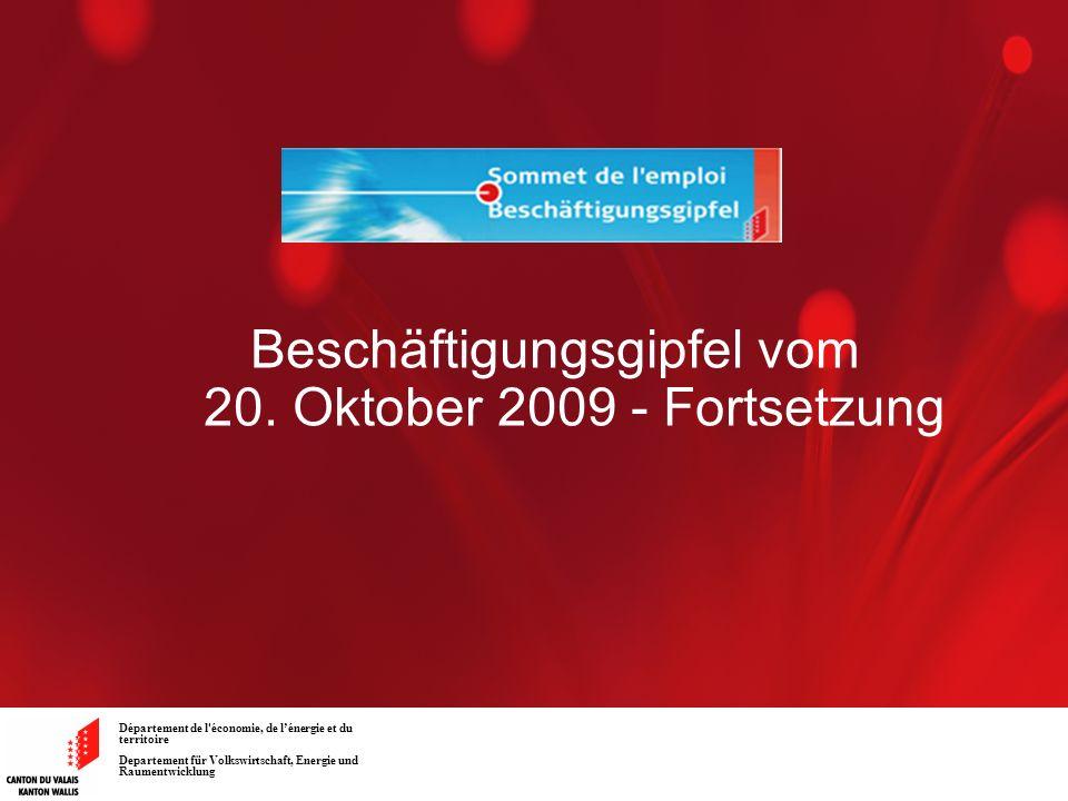 Beschäftigungsgipfel vom 20. Oktober 2009 - Fortsetzung